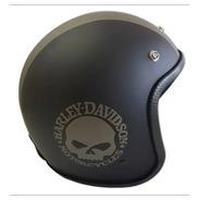 Capacete Old School Harley Davidson Rebaixado Envio Imediato