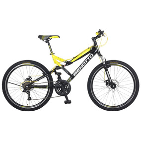 Bicicleta Benotto Navy Mtb Acero R26 21v Shimano Neg