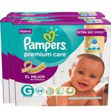 Pañales Pampers Premium Care 136 Unidades Talla Grande
