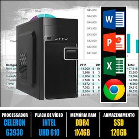 Computador De Trabalho -celeron G3930 -4gb -ssd120 +garantia