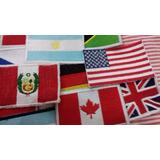 Parches Apliques Banderas Bordadas Del Mundo Hasta 9x6 Cm