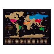 Quadro Mapa Mundi De Raspar Unlocked Sem Moldura