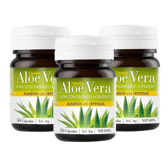 Pack Natier Aloe Vera Liofilizado 150 Caps Aumenta Defensas