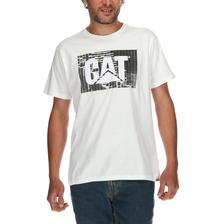 Polera Hombre Contech Logo Wright Blanco Cat
