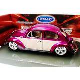 Vw Beetle Clasico Vocho Welly Metal 1:24 O 17cm
