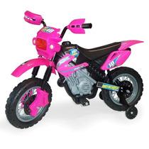 Moto Elétrica Mitro Infantil Motocross 242 - Rosa