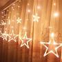 Decoración Ucharge Estrella Luces De La Cortina, Con 12 Est