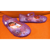 Zapatos Mary-janes Plastico Dora La Exploradora No. 18 Luces