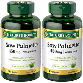 Saw Palmetto Natural Prostate Health 250 Caps D 450mg 2 Pack