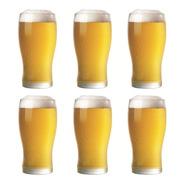 Vasos Cerveceros Pinta Rigolleau Set X6 Vasos De Cerveza Vidrio Grueso Para Cervecería Apilables 540 Ml - Cuotas