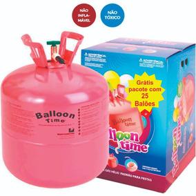 Gás Hélio Bujão Cilindro Portátil 0,42m³ 50 Balões + Brinde