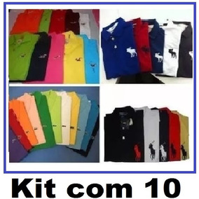 Kit 10 Camisa Polo Masculina* Frete Grátis* Atacado Revenda