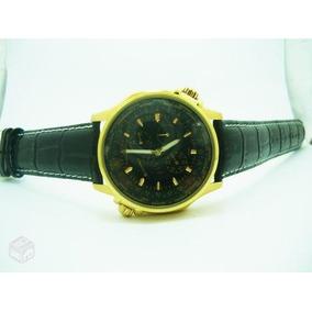 Banhado A Ouro,relógio Alemão Jacquescantani 4 Cronos Funcio