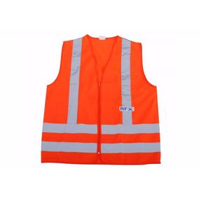 Colete Tipo Blusão S/ Bolso Laranja Refletivo Luminoso Rfx