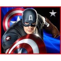 Kit Imprimible Capitan America Diseña Tarjetas Invitaciones