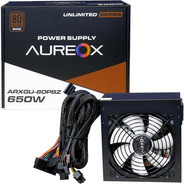 Fuente Pc Gamer Aureox Arxgu 650w Certificada 80 Plus Bronze