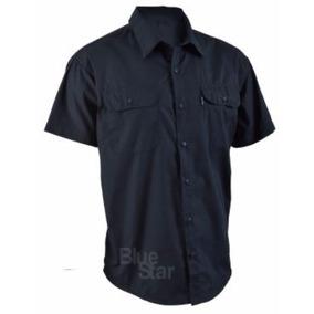 Camisa De Popelina Manga Corta