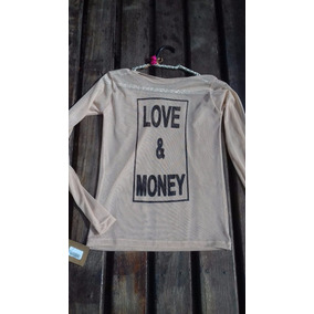 Blusa Manga Tule Transparente Segunda Pele Love E Money Rock