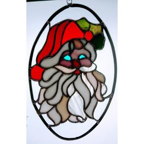 Adorno Colgante, Vidrio, Estilo Tiffany Motivo Navidad