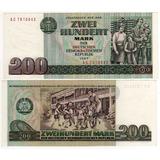 Alemania Democrática - Billete 200 Marcos 1985 - Oferta!!