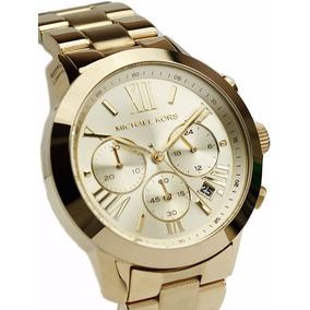 72e3deb2e4f19 Relógio Feminino Michael Kors Mk5777 Dourado Gold 42mm