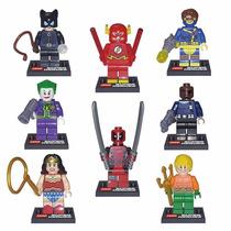 Lego Superheroes Joker Deadpool Flash - 8 Muñecos Importados
