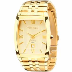 Relógio Technos Masculino Quadrado Dourado 1n12mp/4x