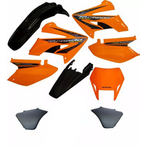 Kit Carenagem Adesivado Honda Xr 250 Tornado 2008 Laranja