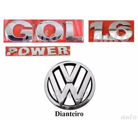 Emblemas Gol 1.6 Power + Vw Grade - G4 Geração 4