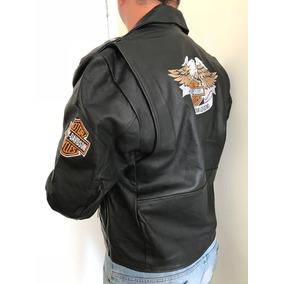 Jaqueta Casaco Masculino Couro Legítimo Harley Davidson Lind
