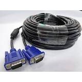 Cable Vga Db15 Para Motinor Pc Video Beam 15mts Con Filtro