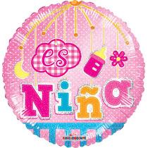 Globo Baby Shower Niña 10 Pzas 9 Pulgadas P/centro De Mesa