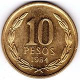 Moneda Chilena 10 Pesos 1984