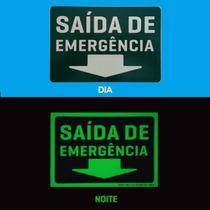 Placa De Sinalização De Emergência Fotoluminescentes