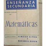 Libro Primer Curso De Matemáticas Enseñanzas Secundaria