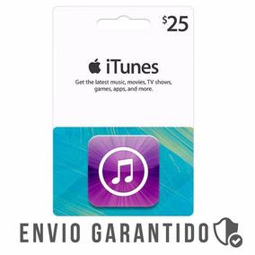 Itunes Gift Card $25 Dólares Usa Envio Imediato