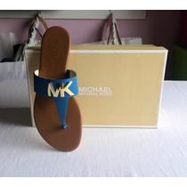 Michael Kors Sandalias Mk Hayley Flat Originales De Piel