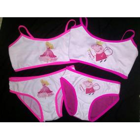 Conjuntos Niña Top, Panty Pantaleta Pepa, Minie, Barbie