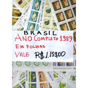 1989 - Ano Completo Folhas Selos Comemorativos Mint