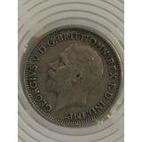 Moneda En Plata De 6 Peniques De Inglaterra De 1936