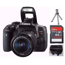 Camera Canon Eos Rebel T6i Dslr Ef-s 18-55mm +64gb +bolsa