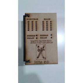 Caja Souvenir Truquera Naipes Madera Fibrofacil