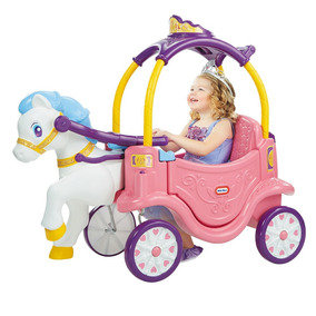 Carruaje Princesas Con Caballo Little Tikes Montable Disney