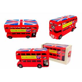 Cofre Ônibus De Londres Em Metal