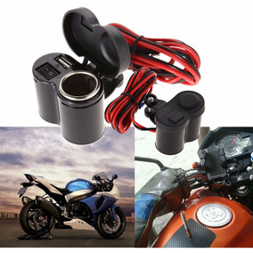 Tomada Carregador Para Moto Carrega 12v E 5v Gps E Celular