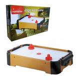 Jogo Mini Air Hockey Game Mesa A Pilha Disco Gols Placar