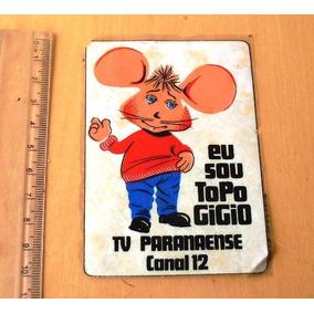 Adesivo Antigo Topo Gigio - Tv Paranaense Canal 12