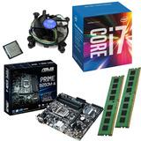 Combo Pc Intel I7 7700 + Asus B250 + 16gb Ddr4 Kingston 2x8