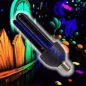 Lampada Luz Negra 25w 220v E27 Fluor Neon Uv Rave Dj Festas