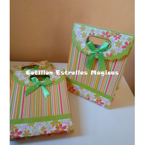 Bolsas Bolsitas Carton Con Moño Joyas Souvenirs